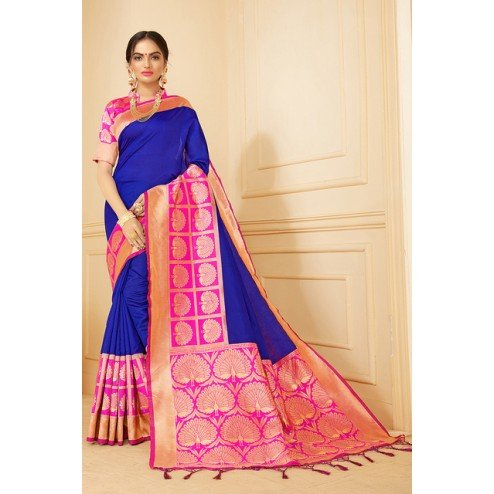 The Style Of Classic Banarasi Designer Silk Saree