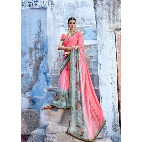 Printed Casual Wear Georgette Sarees